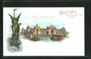 AK St. Louis, World`s Fair 1904, Palace of Liberal Arts, Ausstellung