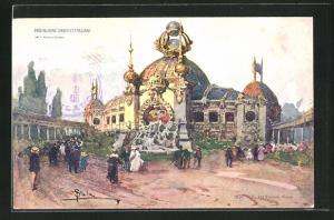 Künstler-AK Milano, Esposizione 1906, Padiglione Orefici Italiani