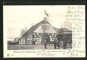 AK Düsseldorf, Ausstellung 1902, Westfälisches Bauernhaus