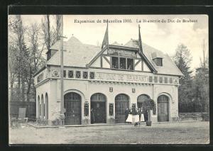 AK Bruxelles, Exposition 1910, La Brasserie du Duc de Brabant, Ausstellung
