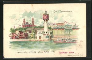 Lithographie Paris, Exposition Lefévre-Utile 1900, Grand Prix, Halt gegen das Licht