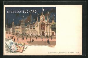 AK Paris, Exposition universelle de 1900, Chocolat Suchard, Industries Diverses, Section Etrangere, Kakao