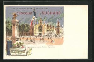 AK Paris, Exposition universelle de 1900, Chocolat Suchard, Industries Diverses, Section Francaise, Kakao