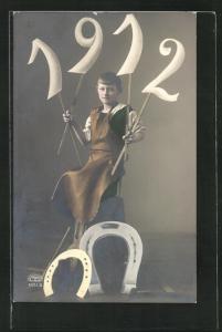 AK Kleiner Schmied mit Jahreszahl 1912