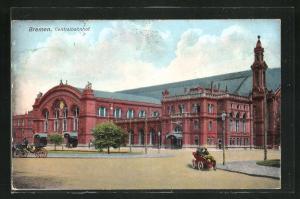 AK Bremen, Partie am Zentralbahnhof