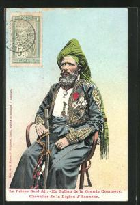 AK le Prine Said Ali, Ex Sultan de la Grande Commore, Chevalier de la Legion d`Honneur