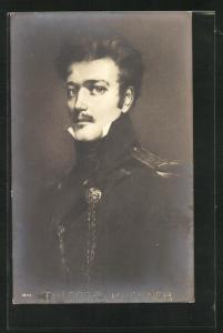 AK Theodor Kärner, Brustportrait in Uniform