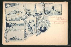 AK Voyage de Felix Faure en Russie 1897, Zar Nikolaus II.