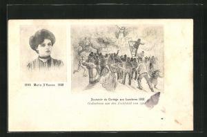 AK Antwerpen, Maria S`Heeren 1884-1902 verbrannte im Festwagen, Souvenir du Cortege aux Lumieres 1902