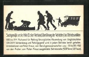 AK Brüssel, Ausstellung für soziale Fürsorge 1916, Reichsversicherungsamt-Berlin, Erste Hilfe