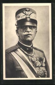 AK Vittorio Emanuele III., Re d`Italia, Uniform