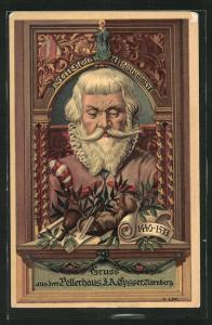 Lithographie Nürnberg, Bildschnitzer Veit Stoss im Pellerhaus