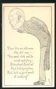 AK Karikatur Sir Frederick Maurice, Principal of Queen Mary College London