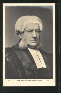 AK Altersporträt des Juristen Baron Huddleston