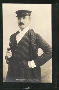 AK Monseigneur le Comte Lonyay, Portrait mit Mütze