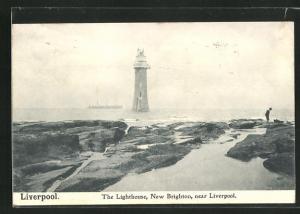 AK Liverpool-New Brighton, The Lighthouse, Leuchtturm