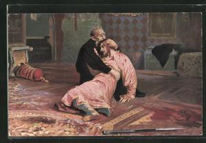 AK Iwan der Schreckliche von von Russland und sein Sohn Iwan