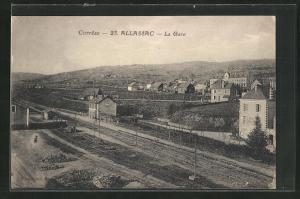 AK Allassac, La Gare, Bahnhof