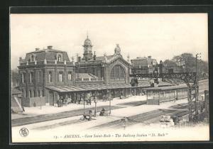 AK Amiens, Gare Saint-Roch, Bahnhof