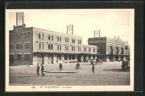 AK Saint-Quentin, La Gare, Bahnhof