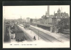AK Amiens, La Gare Saint-Roch, Bahnhof
