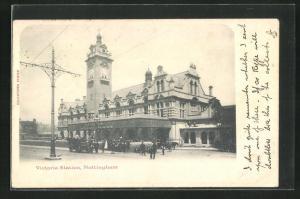 AK Nottingham, Victoria Station, Bahnhof