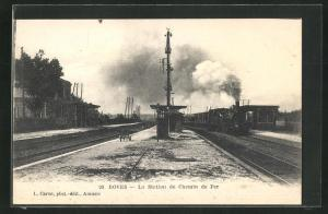 AK Boves, La Station de Chemin de Fer, Bahnhof