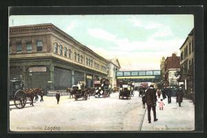 AK London, Waterloo Station, Bahnhof
