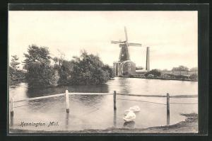AK Kennington, Kennington Mill, Blick zur Windmühle