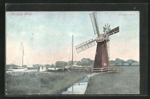 AK Horning, Horning Mill, Blick zur Windmühle