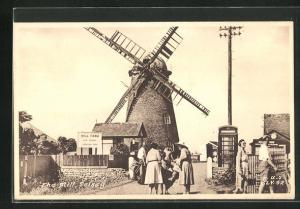 AK Selsey, The Mill, Blick zur Windmühle