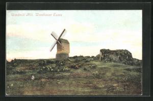 AK Woodhouse Eaves, Windmill Hill, Blick zur Windmühle