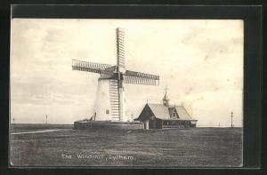 AK Lytham, The Windmill, Blick zur Windmühle