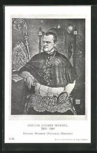 AK British Museum, Gregor Johann Mendel, 1822-1884, Bischof