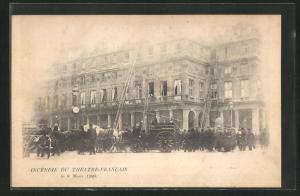 AK Paris, Incendie du Theatre-Francais 1900, Brand