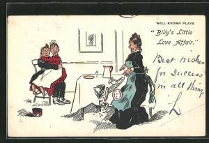 AK Dienstmädchen sitzt auf dem Schoss ihres Verehrers, Billy`s Little Love Affair