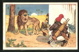 Künstler-AK Alphonse Daudet, Il Tarttarin de Tarascon