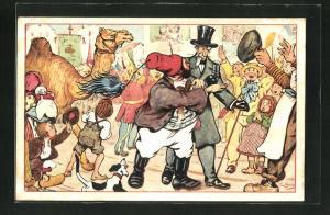 Künstler-AK Alphonse Daudet, Il Tartarin de Tarascon