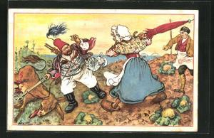 Künstler-AK Alphonse Daudet, Il Tartarin de Tarascon: Dove si vede come Tartarin...