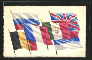 AK Fahnen der Allierten, Propaganda Entente
