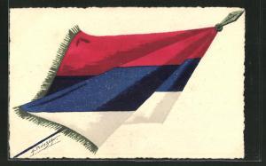 Künstler-AK Französische Flagge