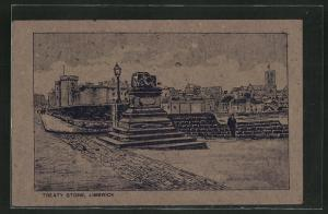 Torfmoos-AK Limerick, Treaty Stone, Denkmal, Irland