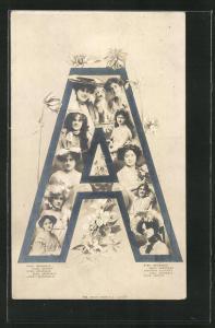 AK Schauspielerin deren Name mit dem Buchstaben A beginnt, Arundale, Antony, Alexander und Augarde, Montage