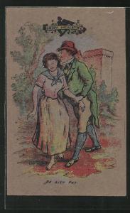 Torfmoos-AK Verliebtes Paar beim Tete-à-Tete