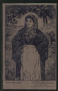Torfmoos-AK Irische Frau in Tracht, Irish Colleen