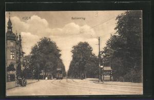 AK Köln-Neustadt, Salierring mit Strassenbahn