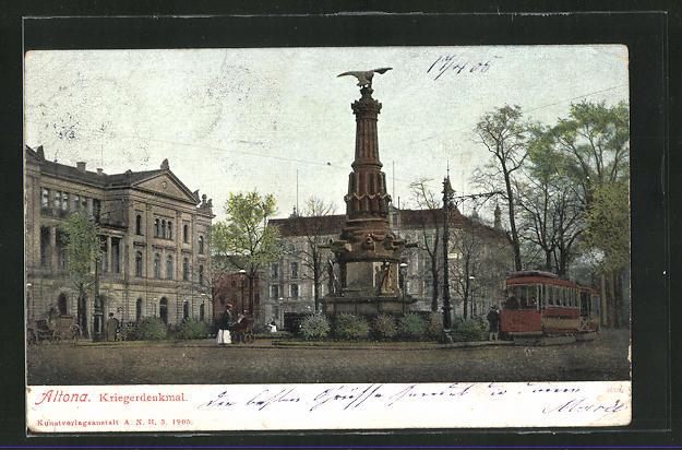AK Hamburg-Altona, Kriegerdenkmal 0