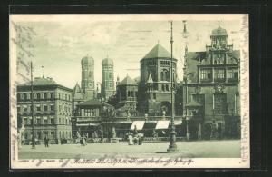 AK München, Künstlerhaus & Synagoge am Lenbachplatz