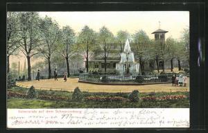 AK Hamburg-Harburg, Kaiserplatz auf dem Schwarzenberg