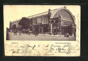 AK Hamburg-Rotherbaum, Partie am Sterschanzenbahnhof